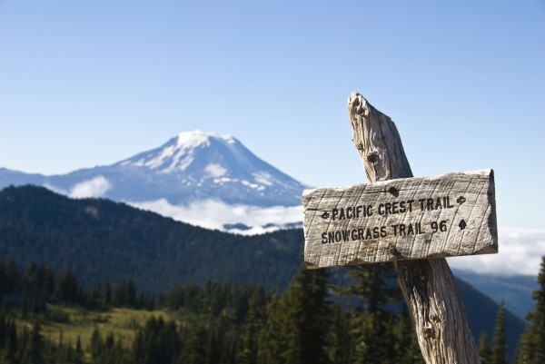 Trail sign, Pacific Crest Trail